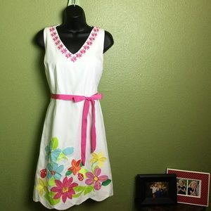 🌸🐞 Lilly Pulitzer Scallop Ladybug Floral Dress